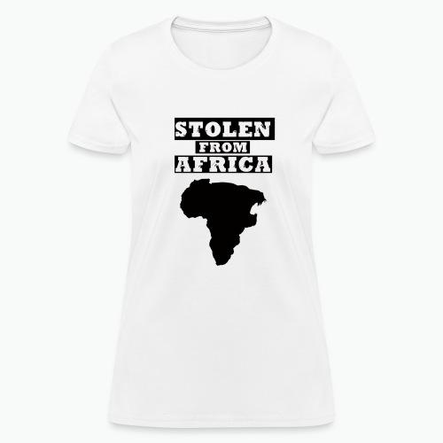STOLEN FROM AFRICA LOGO - Women's T-Shirt