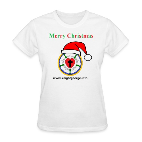 The Order of Knight George - Christmas Luther Rose - Women's T-Shirt