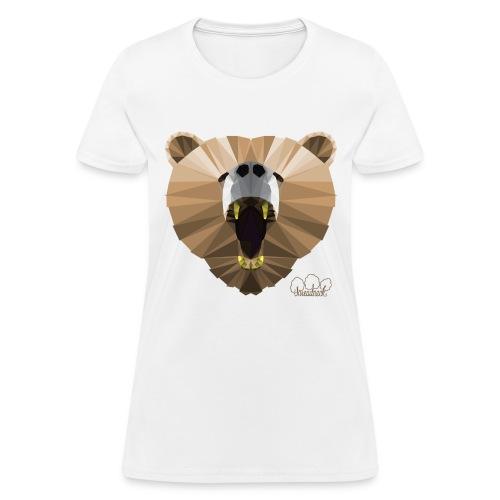 Hungry Bear Women's V-Neck T-Shirt - Women's T-Shirt