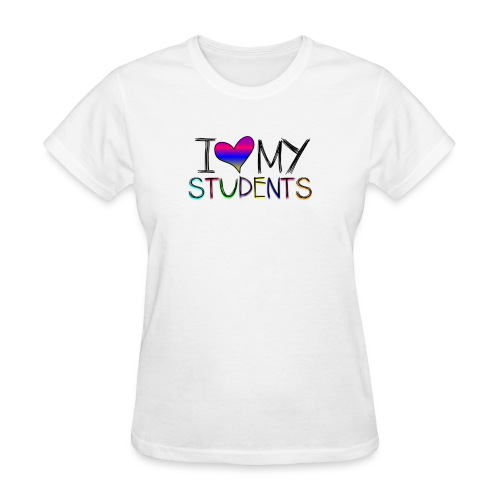 Love my studentss png - Women's T-Shirt
