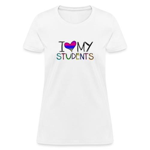Love my studentss png - Women's T-Shirt