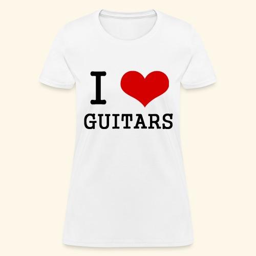 I love guitars - Women's T-Shirt
