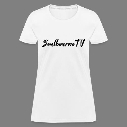 SoulbourneTV - Black on White - Women's T-Shirt