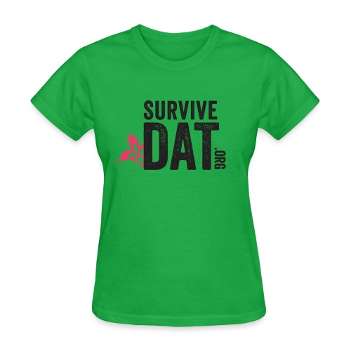 survive dat final logo stacked org color notag out - Women's T-Shirt