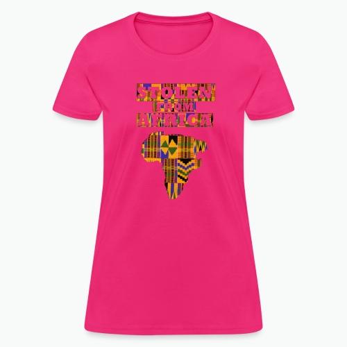 STOLEN FROM AFRICA Kente - Women's T-Shirt