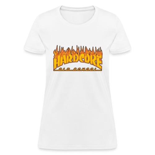 hardcore old school fire - Women's T-Shirt