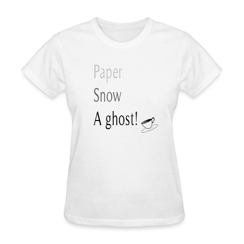 Paper Snow Ghost - Women's T-Shirt