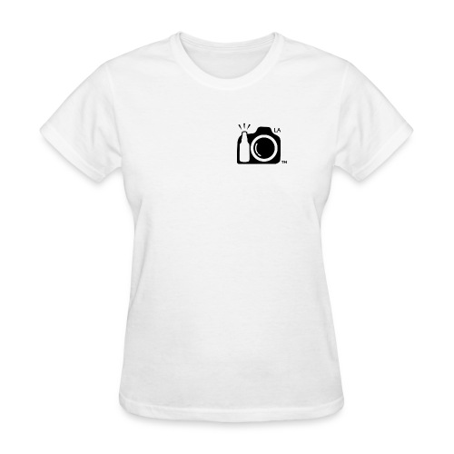 Los Angeles Transparent With Initials BLACK png - Women's T-Shirt