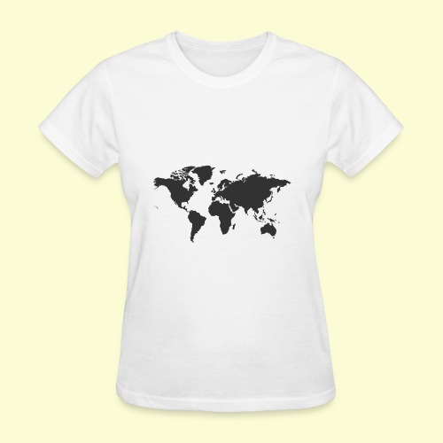 map of the world - Women's T-Shirt