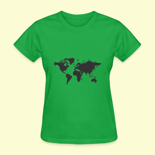 map of the world - Women's T-Shirt