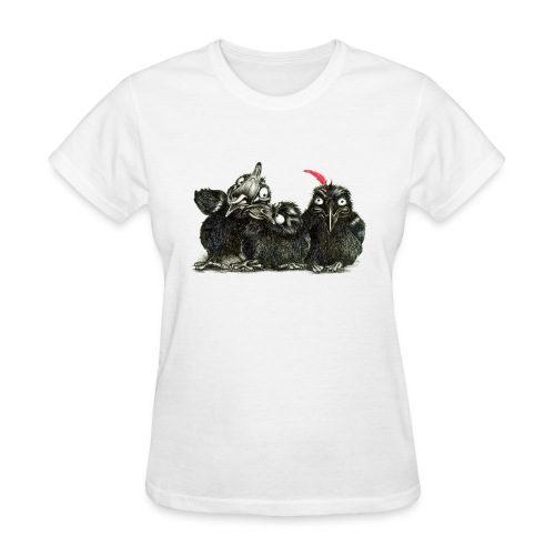 Three Young Crows - Women's T-Shirt