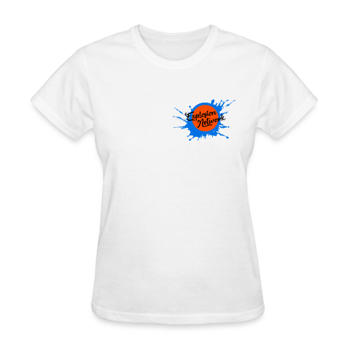 White Explosion Network Pocket Tee - Women's T-Shirt