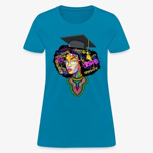 Black Educated Queen School - Women's T-Shirt