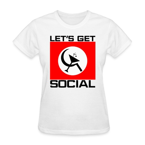 Let's Get Social as worn by Axl Rose - Women's T-Shirt
