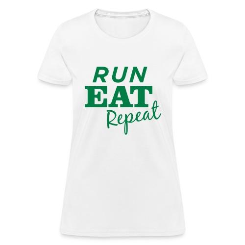 Run Eat Repeat buttons medium - Women's T-Shirt
