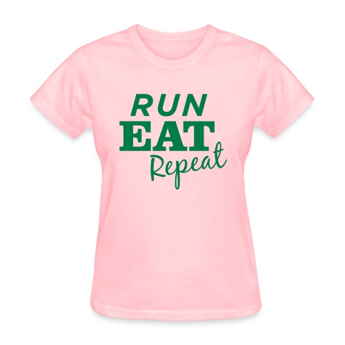 Run Eat Repeat buttons medium - Women's T-Shirt
