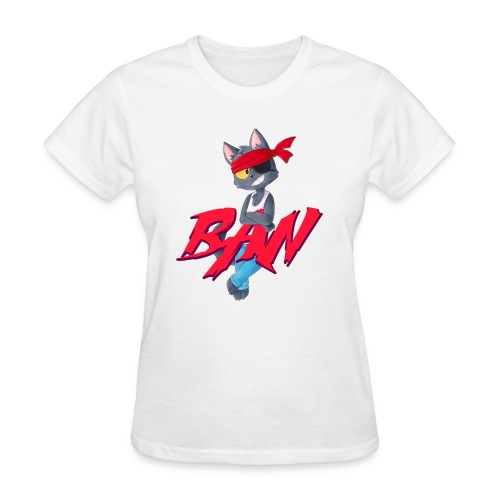 Ban t-shirt white outline - Women's T-Shirt