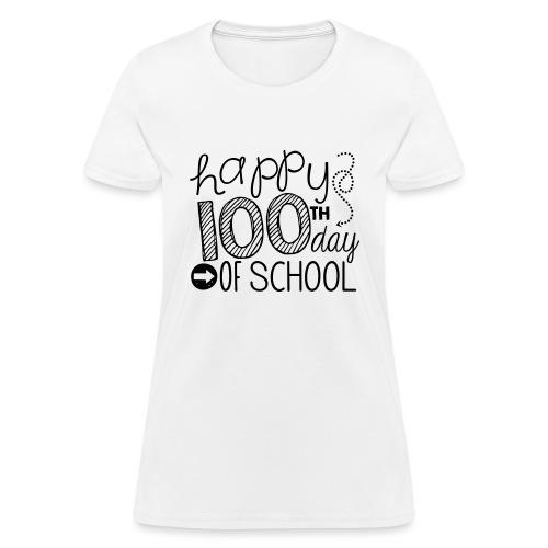 Happy 100th Day of School Arrows Teacher T-shirt - Women's T-Shirt