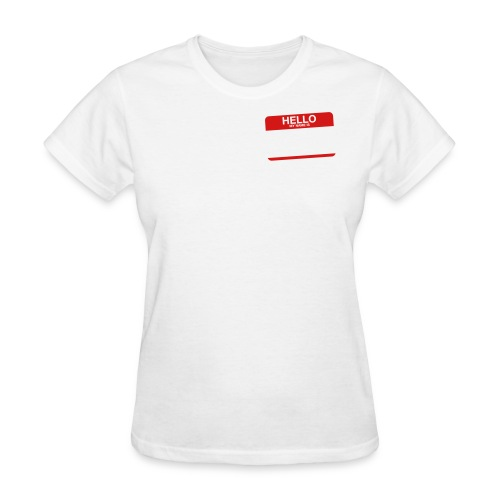 Hello Name Tag (New ID) - Women's T-Shirt