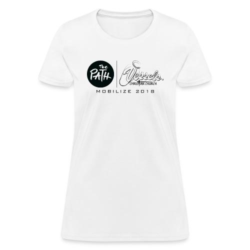 Black White VCC Logo - Women's T-Shirt