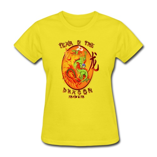 Year Of The Dragon-2012 Oval - Women's T-Shirt