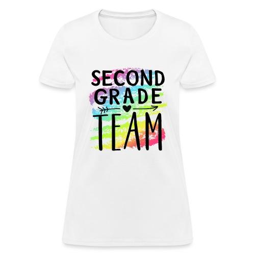 Second Grade Team Crayon Splash Teacher T-Shirts - Women's T-Shirt
