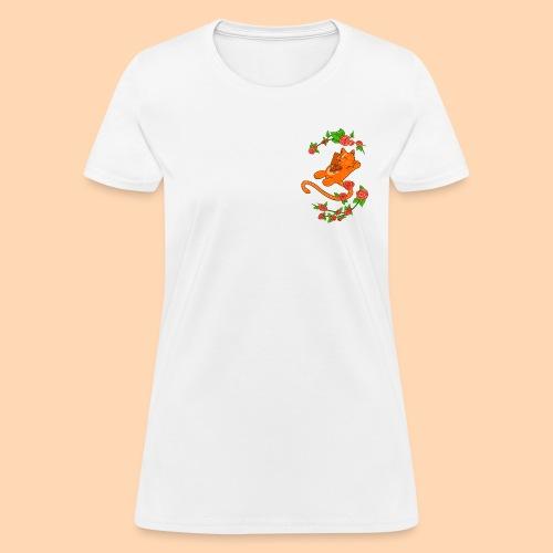 cat of flower - Women's T-Shirt