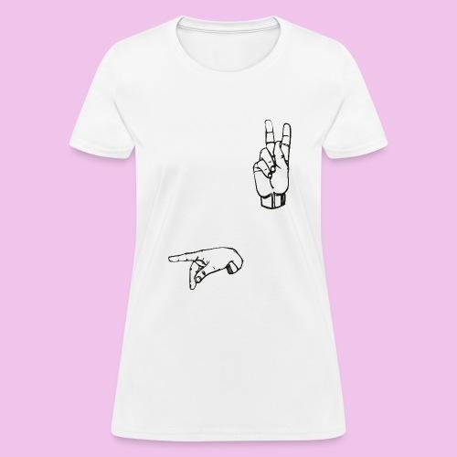 2000px Sign language P svg png - Women's T-Shirt