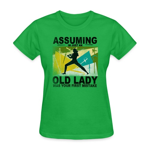 Your first mistake green and blue - Women's T-Shirt
