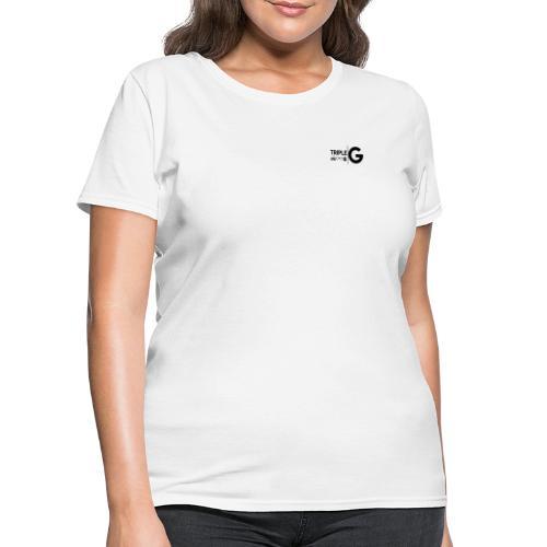 Triple G Full Logo - Black Logo - Women's T-Shirt