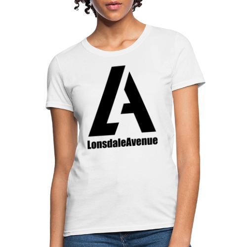 Lonsdale Avenue Logo Black Text - Women's T-Shirt