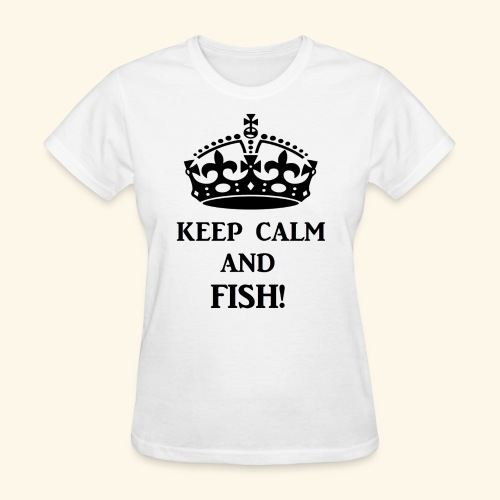 keep calm fish blk - Women's T-Shirt