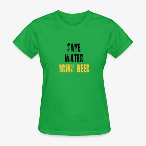 Save water drink beer - Women's T-Shirt