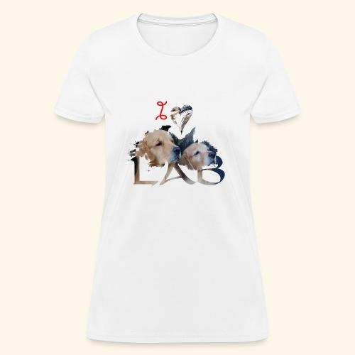 I love Lab - Women's T-Shirt