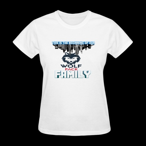 We Are Linked As One Big WolfPack Family - Women's T-Shirt