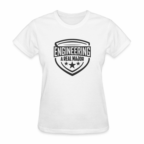 Engineering A Real Major Apparel - Shield Design - Women's T-Shirt