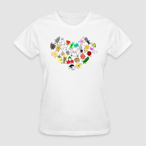 Inanimate Heart Color - Women's T-Shirt
