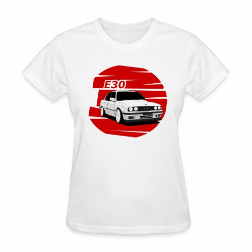 Bimmer e30 red background - Women's T-Shirt