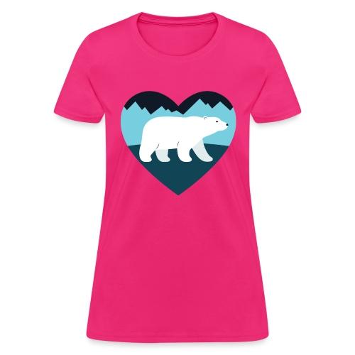 Polar Bear Love - Women's T-Shirt