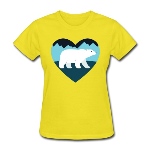 Polar Bear Love - Women's T-Shirt