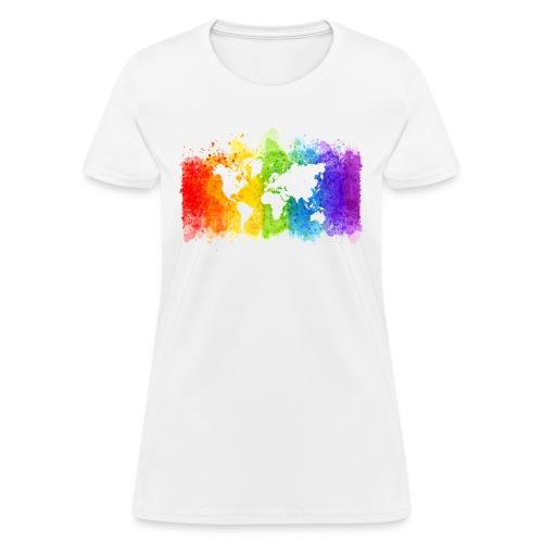 Pride Rainbow Map World - Women's T-Shirt