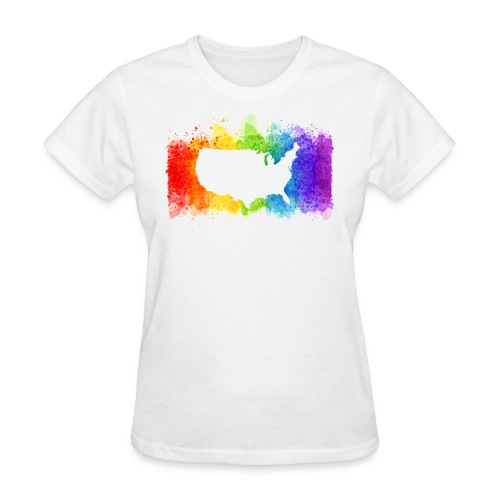 Pride Rainbow Map USA - Women's T-Shirt
