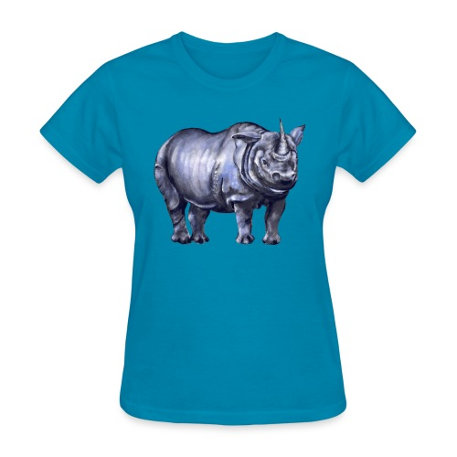 One horned rhino - Women's T-Shirt