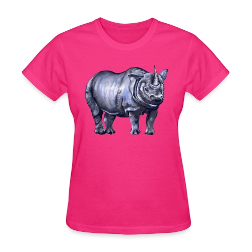 One horned rhino - Women's T-Shirt