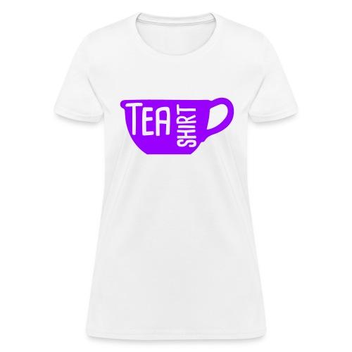 Tea Shirt Purple Power of Tea - Women's T-Shirt
