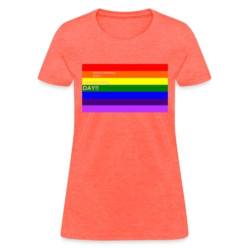 rainbowy day - Women's T-Shirt