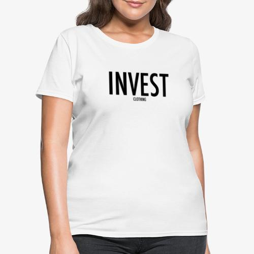 invest clothing black text - Women's T-Shirt