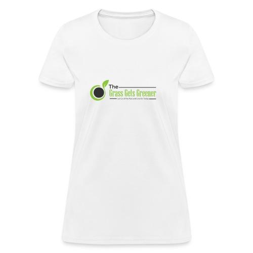 The Grass Gets Greener Logo w/ Text - Women's T-Shirt