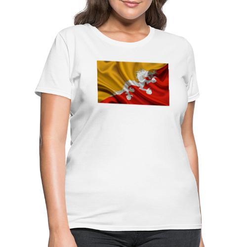 Bhutan Flag - Women's T-Shirt
