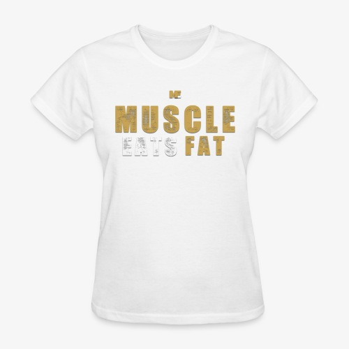Muscle Eats Fat Tank Top (Saints Gold) - Women's T-Shirt